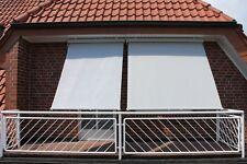 Leco Sonnenrollo Sonnenschutz 2x3m Rollo Markise Sichtschutz Windschutz Grau