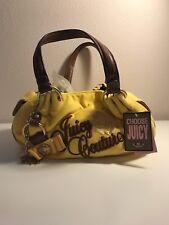 Juicy Couture #YHRU1301 Yellow Velour Satchel