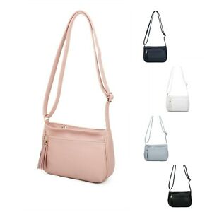 Neat Small Messenger Crossbody Shoulder Bag Woman Girl Boutique Faux Leather UK