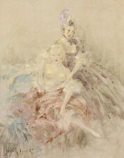 Icart Louis After Fragonard Canvas 16 x 20   #3028