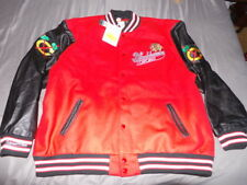 Mitchell & Ness Authentic Chicago Blackhawks Wool Leather Felt Jacket 56 3XL NWT