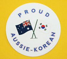 PROUD AUSSIE - KOREAN AUSTRALIAN STICKER KOREA VINYL DECAL CAR UTE TRUCK CARAVAN