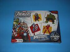 MARVEL AVENGERS ASSEMBLE 72 MEMORY MATCH CARDS GAME MADE BY CARDINAL NEW