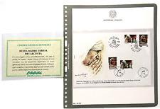 FRANCOBOLLI 1998 REPUBBLICA MADRE TERESA 2+2 VALORI ITALIA+ALBANIASUBUSTA Z/7131