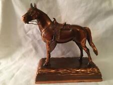 RARE ESTES TARTER WESTERN COPPER METAL HORSE TRIGGER WITH ORIGINAL SADDLE