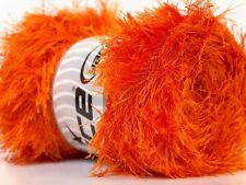 LG 100 gram Orange Eyelash Yarn Ice Fun Fur 164 Yards 22711