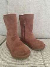 Girls 🌈🦄💗🎀 UGG Lil Sunshine Boots Chocolate Brown Suede Uk12 VGC