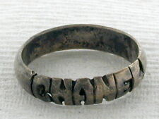 """Sterling Silver Ring with word """"C H A N E L"""""""