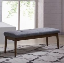 Leanne Double Bench with wood Base in 2 Fabric Colours By !nspire