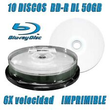 10 DISCOS CMC BD-R DL 50GB 6X BLU RAY DUAL LAYER IMPRIMIBLE PRINTABLE