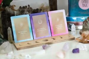 Affirmation Moon Phase Card Holder Natural Birch
