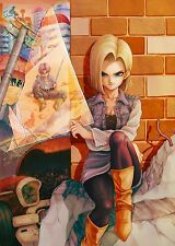 "Dragon Ball Z Poster Android 18 VS Trunk Anime Art Silk Wall Posters 25x35"" DB51"