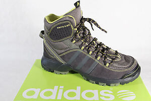 Adidas Stiefel Boots Leder/Textil grau/gelb NEU