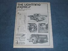 "1965 Chevy Custom Pickup Long Bed Vintage Article ""The Lightning Express"""
