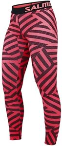 Salming Flow Womens Running Tights - Pink
