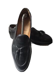 Edward Green Tassel Black Calf Leather Antique Formal Loafer- Size 8