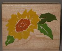 """Rubber Stampede Rubber Stamp Single Sunflower Leaves Wood Mount 2.75"""" x 2.25"""""""