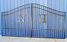 Custom Built Steel Driveway Entry Gate 12ft Wide Dual Swing, Handrails, Gates.
