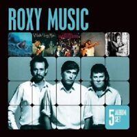 ROXY MUSIC - 5 ALBUM SET (VIVA/MANIFESTO/FLESH AND BLOOD/+)  5 CD NEU