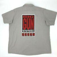 Big Gun Exhaust Systems Chaparral Shirt Men's Size 2XL Dickies Short Sleeve Work