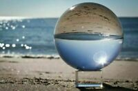 Clear Asian Rare Natural Quartz Magic Crystal Healing Ball Sphere 80mm + Stand