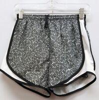 NIKE Size XS Gray White Black Trim Polyester Running Shorts NEW Dri Fit