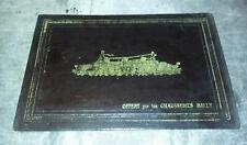 Ancien sous-main en cuir noir - Paquebot NORMANDIE - publicité BALLY -32 x 22 cm