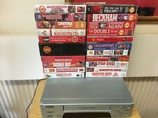 JOB LOT 21 of  Manchester United  90`s Football  VHS Tapes  + VHS Recorder