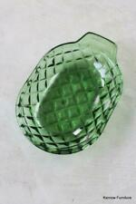 More details for retro green glass shallow dish