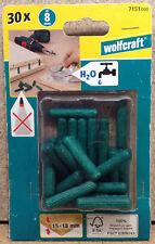 Wolfcraft 30 x Holzdübel Langholzdübel vorgeleimt 8 mm  7151000