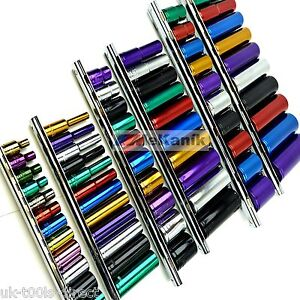 "Multi Colour Hi Viz Sockets 1/4 3/8 1/2"" Deep Drive Shallow Wall 64pc Tool Set"