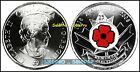 CANADA 2008 CANADIAN QUARTER WWII VETERAN COLORIZED POPPY 25 CENT COIN UNC