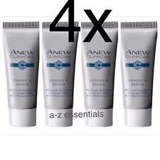 4x Avon Anew Clinical Defend & Repair Advanced Hydration Overnight Mask-(4x10ml)