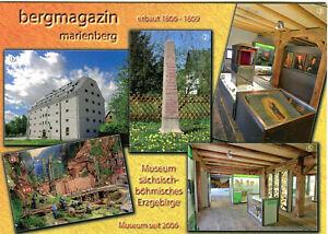 AK Bergmagazin Marienberg im Erzgebirge Gedenksäule Ausstellungsräume A_098