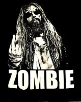 ROB ZOMBIE cd lgo NO F#CKS GIVEN EVER / MIDDLE FINGER Official SHIRT MED new