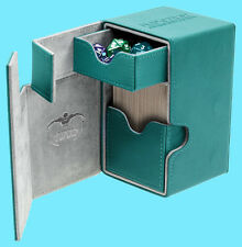 ULTIMATE GUARD FLIP n TRAY PETROL BLUE 100+ XENOSKIN DECK CASE Standard Card Box