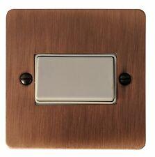 G&H FAC69W Flat Plate Antique Copper 1 Gang Triple Pole 10A Fan Isolator Switch