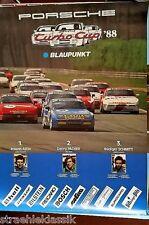 BLAUPUNKT PORSCHE 944 TURBO CUP 1988 PLAKET 1 ASCH 2 PACHER 3 SCHMITT 1 M X 0,76