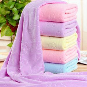 1Pc 140*70cm soft microfiber baby kids bath towels washcloth home beach*ss