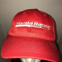 Honda Racing HPD Red Hat Hitwear Strapback Cap One Size Fits All Polyester