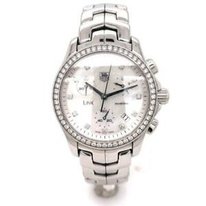Ladies Tag Heuer Link CJF1314 Stainless Steel and Diamond 32MM Quartz Wristwatch