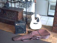 guitare electro acoustique Calif + housse + ampli guitare electro Torque T12