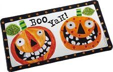Glass Halloween Jack-o-Lantern Platter - BOO YAH!