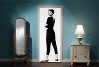 Door Mural Audrey Hepburn View Wall Stickers Decal Wallpaper 123