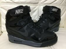 Ladies Nike Revolution Sky Hi Black Patent Trainer Wedges Uk 7