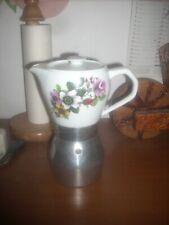 caffettiera alluminio e ceramica  vintage KITTY EXPRESS 5-6 tz funzionante