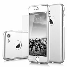 Ultra thin 360° Hybrid Hard Silicon Case + Tempered Glass Cover For iPhone 6S 6