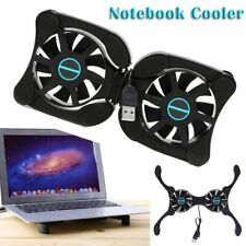 Foldable USB Laptop Cooling Pads With Double Fans Mini Octopus Notebook