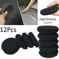 12Pcs Car Auto Waxing Polish Wax Foam Sponge Cleaning Detailing Pads Applicator