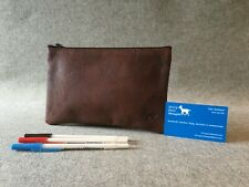 "Leather Pencil Case 8"" x 5"" Buffalo PC8 Art Student YKK Zip Billy Goat Designs"